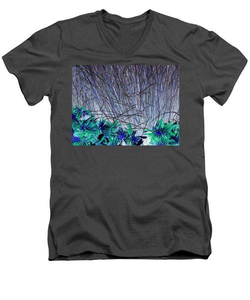 Venus Blue Botanical Men's V-Neck T-Shirt