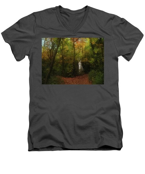 Venus Of The Woodland Men's V-Neck T-Shirt by Cedric Hampton