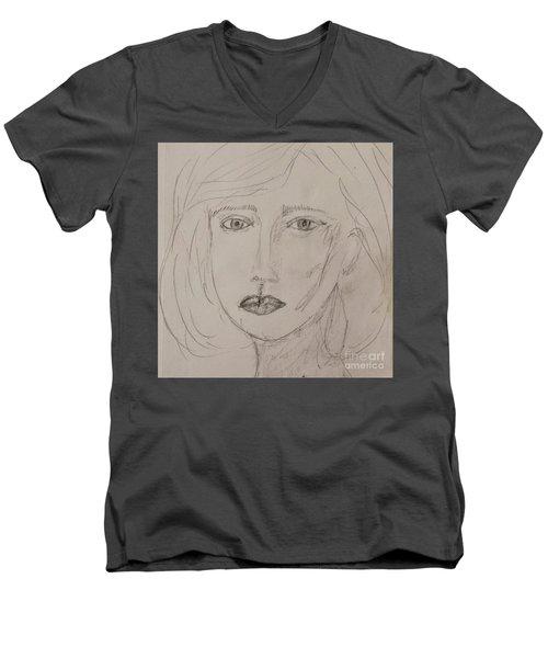 Vera In Pencil Men's V-Neck T-Shirt