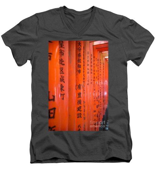 Vermillion Torii I Men's V-Neck T-Shirt
