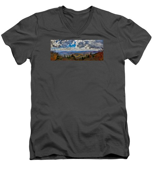 Vermont Autumn From Mt. Ascutney Men's V-Neck T-Shirt