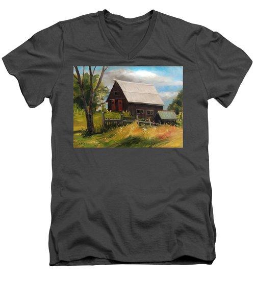 Vermont Barn Men's V-Neck T-Shirt
