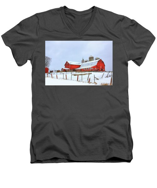 Vermont Barn Men's V-Neck T-Shirt