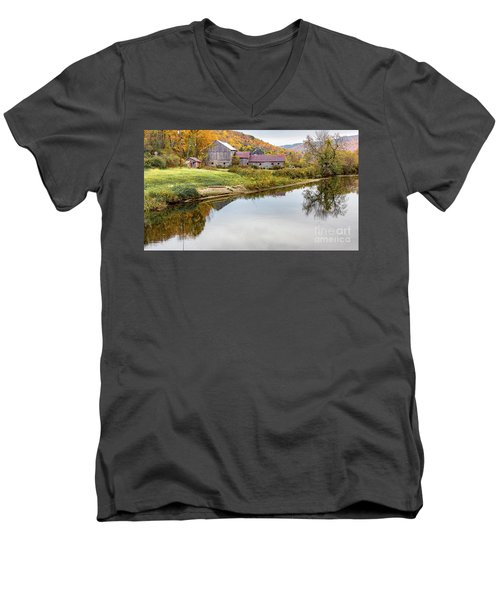 Vermont Countryside Men's V-Neck T-Shirt