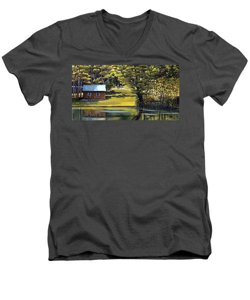 Vermont Greens Men's V-Neck T-Shirt