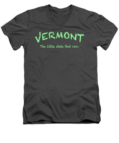 Vermont Little State Men's V-Neck T-Shirt