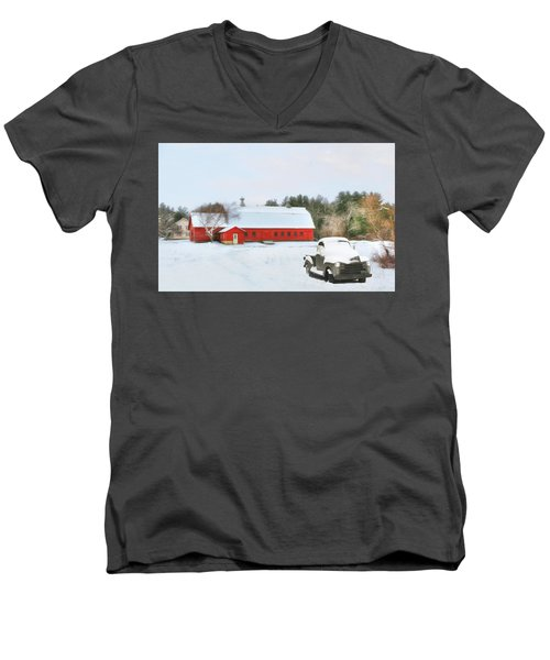 Vermont Memories Men's V-Neck T-Shirt