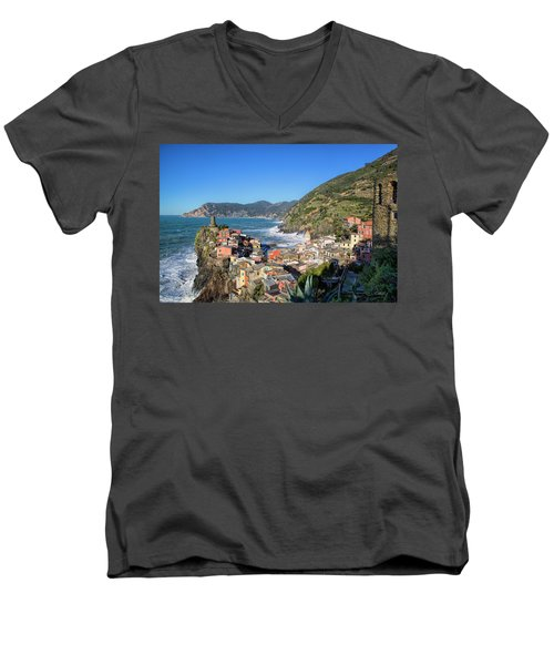 Vernazza In Cinque Terre Men's V-Neck T-Shirt