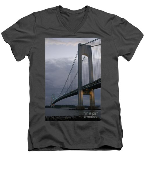 Verrazano Bridge Men's V-Neck T-Shirt