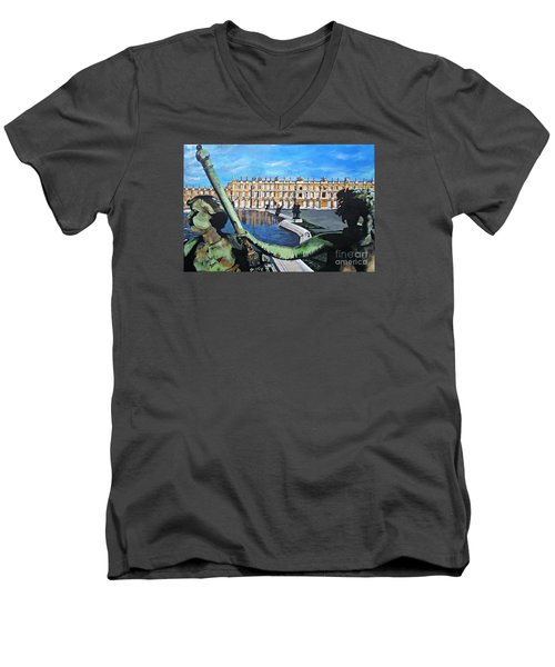 Versailles Palace Men's V-Neck T-Shirt by Francine Heykoop