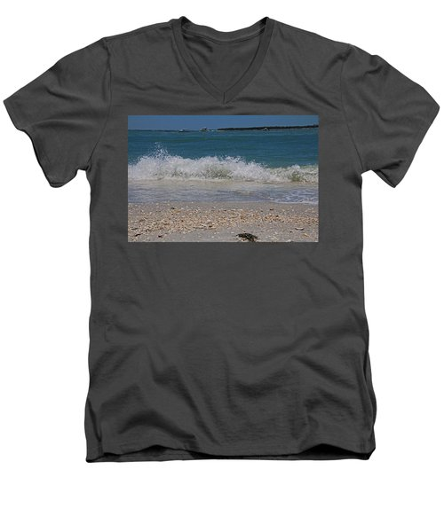 Men's V-Neck T-Shirt featuring the photograph Verses Out Of Rhythm by Michiale Schneider