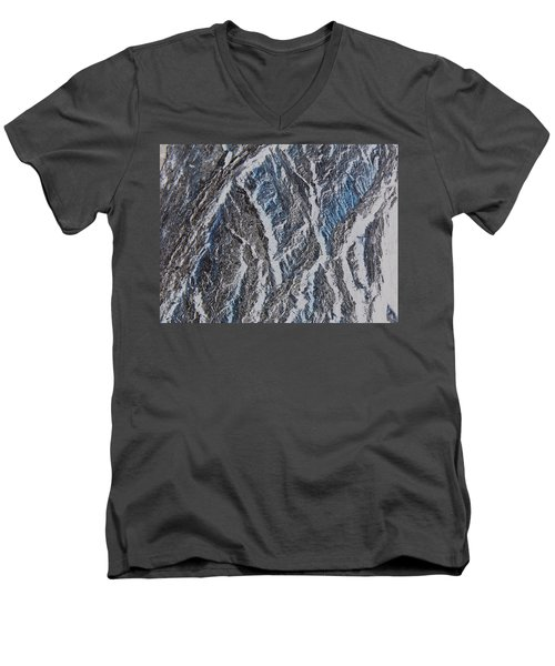 Men's V-Neck T-Shirt featuring the photograph Vertical Climb by Lenore Senior