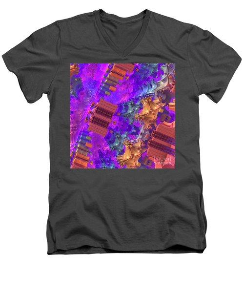 Men's V-Neck T-Shirt featuring the digital art Vertigo by Lyle Hatch