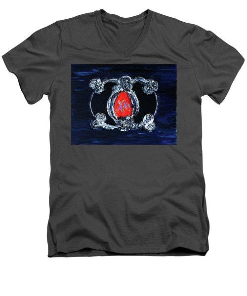 Vesica Black Suns Men's V-Neck T-Shirt