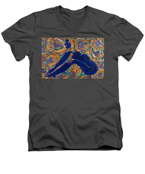 Vesica  Pisces Men's V-Neck T-Shirt