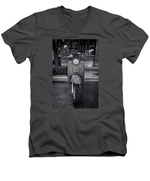 Men's V-Neck T-Shirt featuring the photograph Vespa by Sebastian Musial