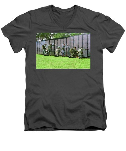 Veterans Memorial Men's V-Neck T-Shirt