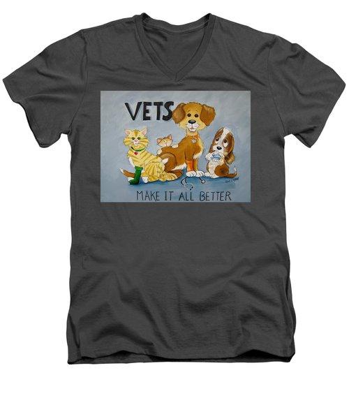 Vets Make It All Better Men's V-Neck T-Shirt