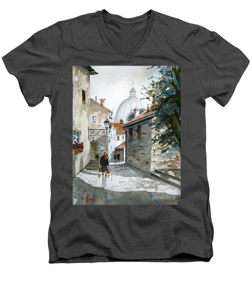 Via Mattina-01 Men's V-Neck T-Shirt