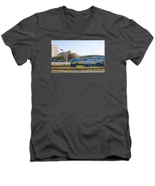 Via Rail Toronto Ontario Men's V-Neck T-Shirt by John Black