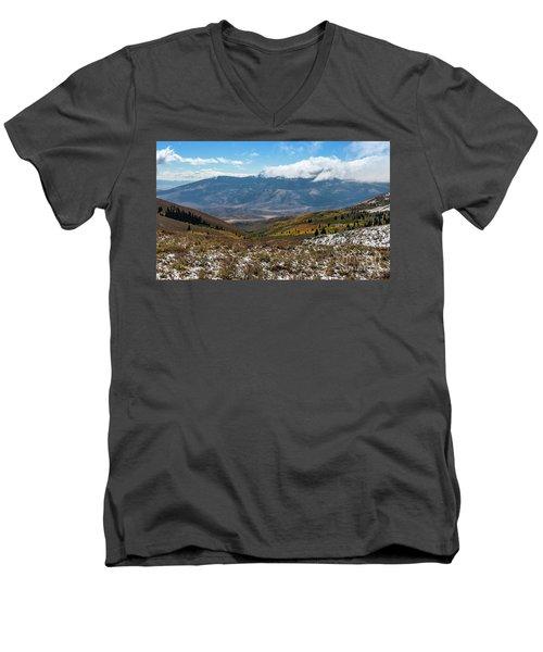 Vibrance Of The Storm Idaho Landscape Art By Kaylyn Franks Men's V-Neck T-Shirt