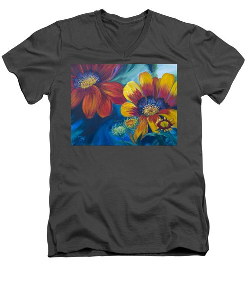 Vibrant Men's V-Neck T-Shirt