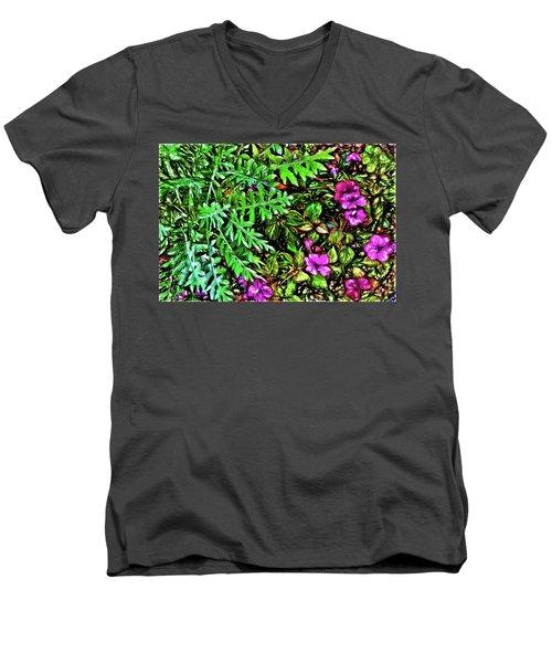 Vibrant Garden Men's V-Neck T-Shirt