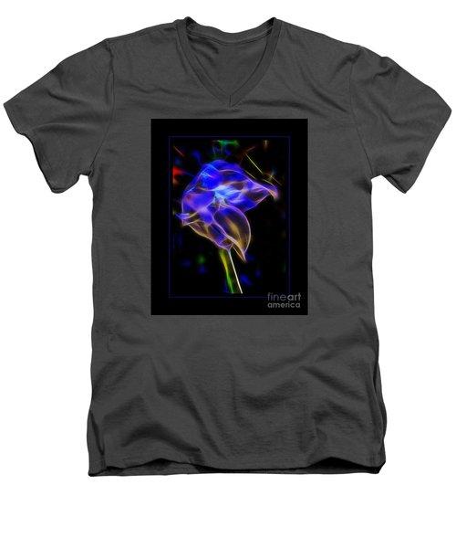 Vibrant Orchid Men's V-Neck T-Shirt