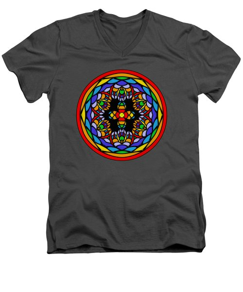 Vibrant Pattern Orb By Kaye Menner Men's V-Neck T-Shirt