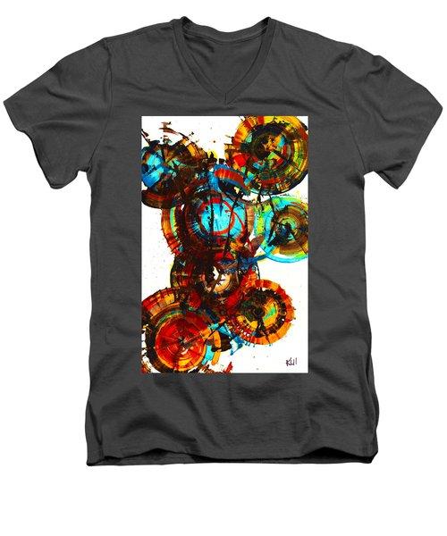Vibrant Sphere Series 995.042312vsx2 Men's V-Neck T-Shirt by Kris Haas