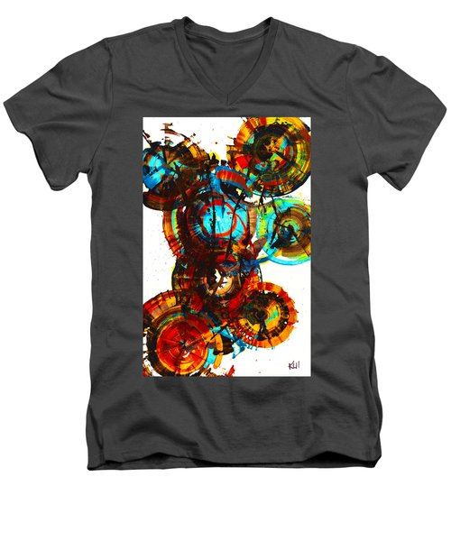 Vibrant Sphere Series 995.042312vsx2 Men's V-Neck T-Shirt