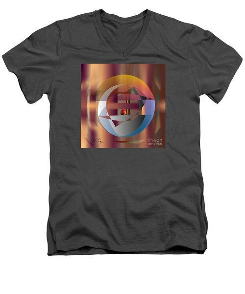 Men's V-Neck T-Shirt featuring the digital art Vicious Circle by Leo Symon