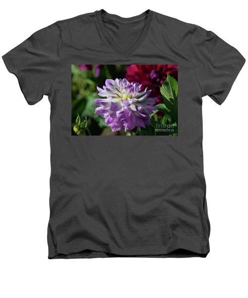 Victoria Ann Dahlia Men's V-Neck T-Shirt