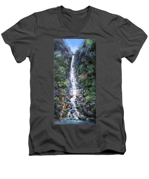 Trafalger Falls Men's V-Neck T-Shirt