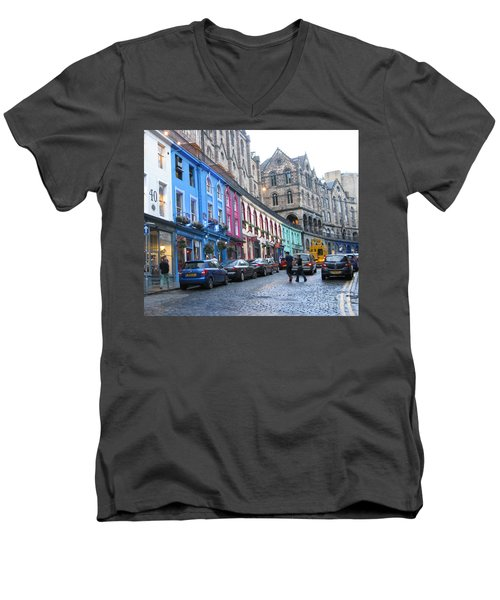 Victoria St Men's V-Neck T-Shirt by Mini Arora