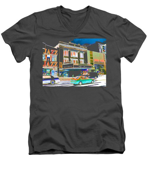Victoria Theater 125th St Nyc Men's V-Neck T-Shirt