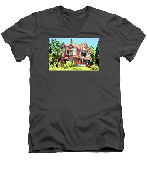 Victorian Men's V-Neck T-Shirt by John Schneider
