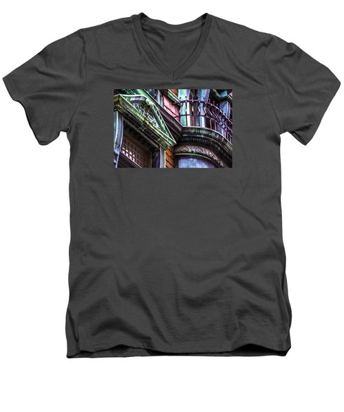 Victorian On Rush V2 Men's V-Neck T-Shirt by Raymond Kunst