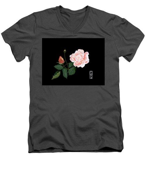 Victorian Rose Men's V-Neck T-Shirt