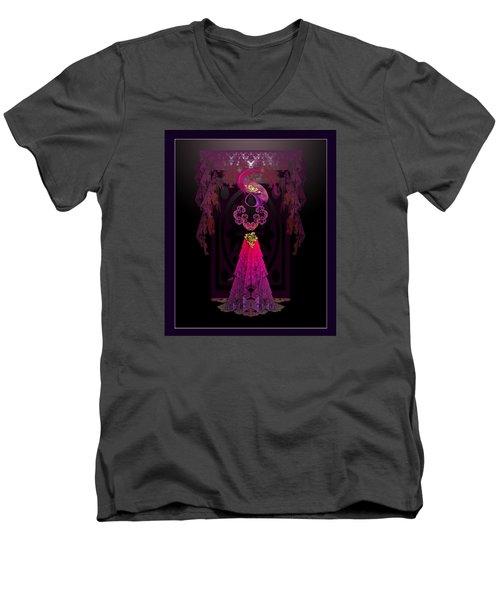 Victorian Silhouette Men's V-Neck T-Shirt
