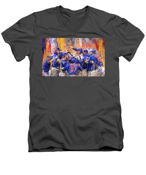 Victory At Last - Cubs 2016 World Series Champions Men's V-Neck T-Shirt