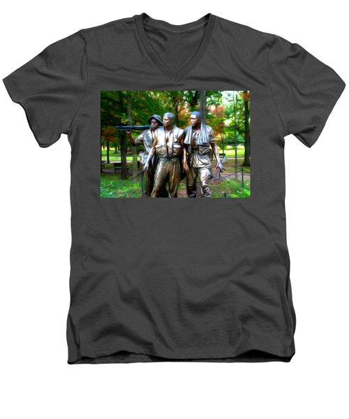 Viet Nam Memorial Men's V-Neck T-Shirt