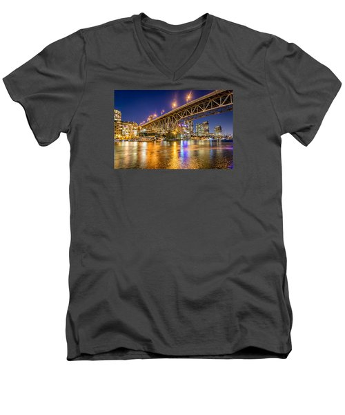 View At Granville Bridge Men's V-Neck T-Shirt by Sabine Edrissi