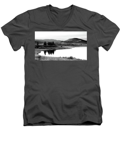 Men's V-Neck T-Shirt featuring the photograph View by Brian Duram
