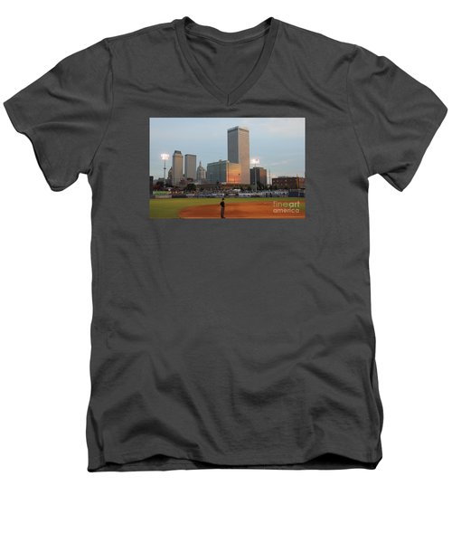 View From 3rd Base 2 Men's V-Neck T-Shirt