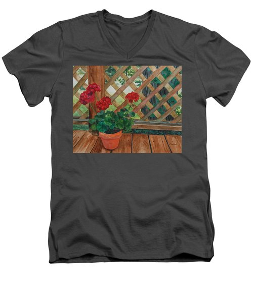 View From A Deck Men's V-Neck T-Shirt by Lynne Reichhart