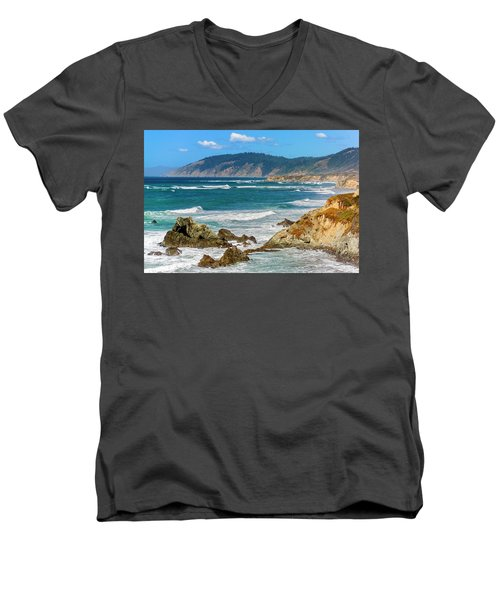View From Abalone Point Men's V-Neck T-Shirt