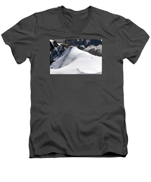 View From Aguille Du Midi Men's V-Neck T-Shirt