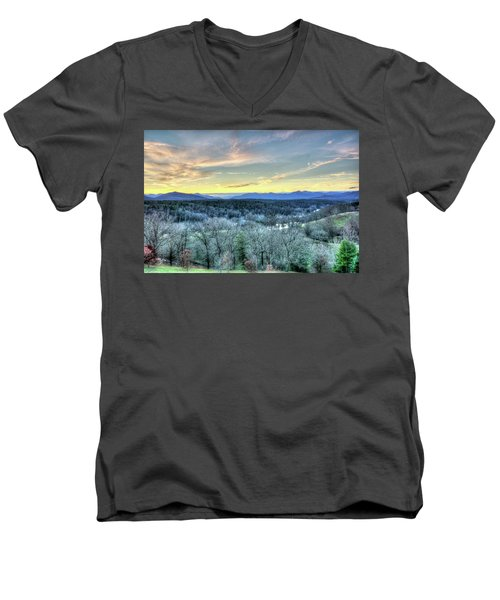 Men's V-Neck T-Shirt featuring the photograph View From Biltmore by Wade Brooks