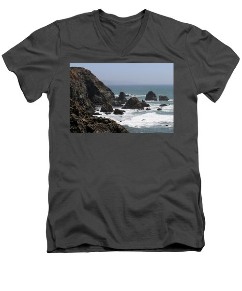 View From Bodega Head In Bodega Bay Ca - 4 Men's V-Neck T-Shirt